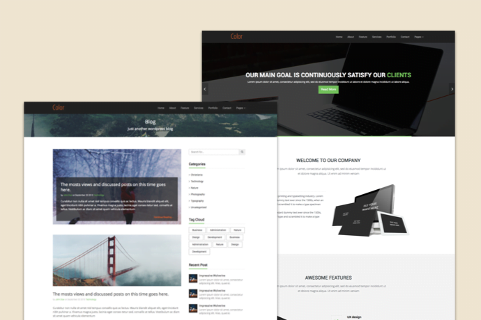 Color HTML5 Template Premium